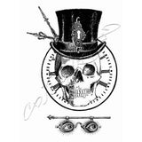 Katzelkraft Unmounted Rubber Stamp - Skeleton Grunge
