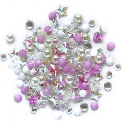 Buttons Galore - Sparkletz Embellishment Pack 10g - Barefoot Beach