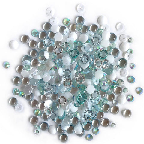 Buttons Galore - Sparkletz Embellishment Pack 10g - Island Breeze