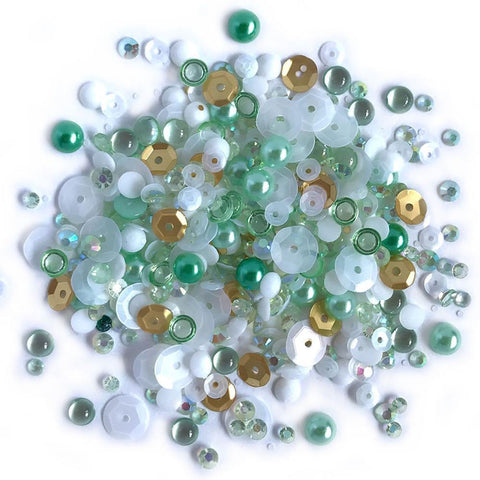 Buttons Galore - Sparkletz Embellishment Pack 10g - Coconut Palms