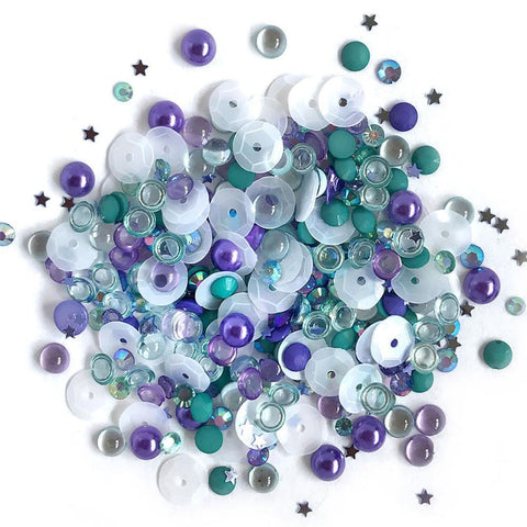 Buttons Galore - Sparkletz Embellishment Pack 10g - Sailors Sky