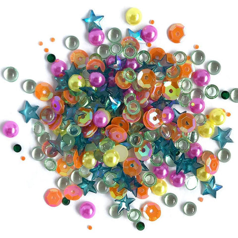 Buttons Galore - Sparkletz Embellishment Pack 10g - Rainbow