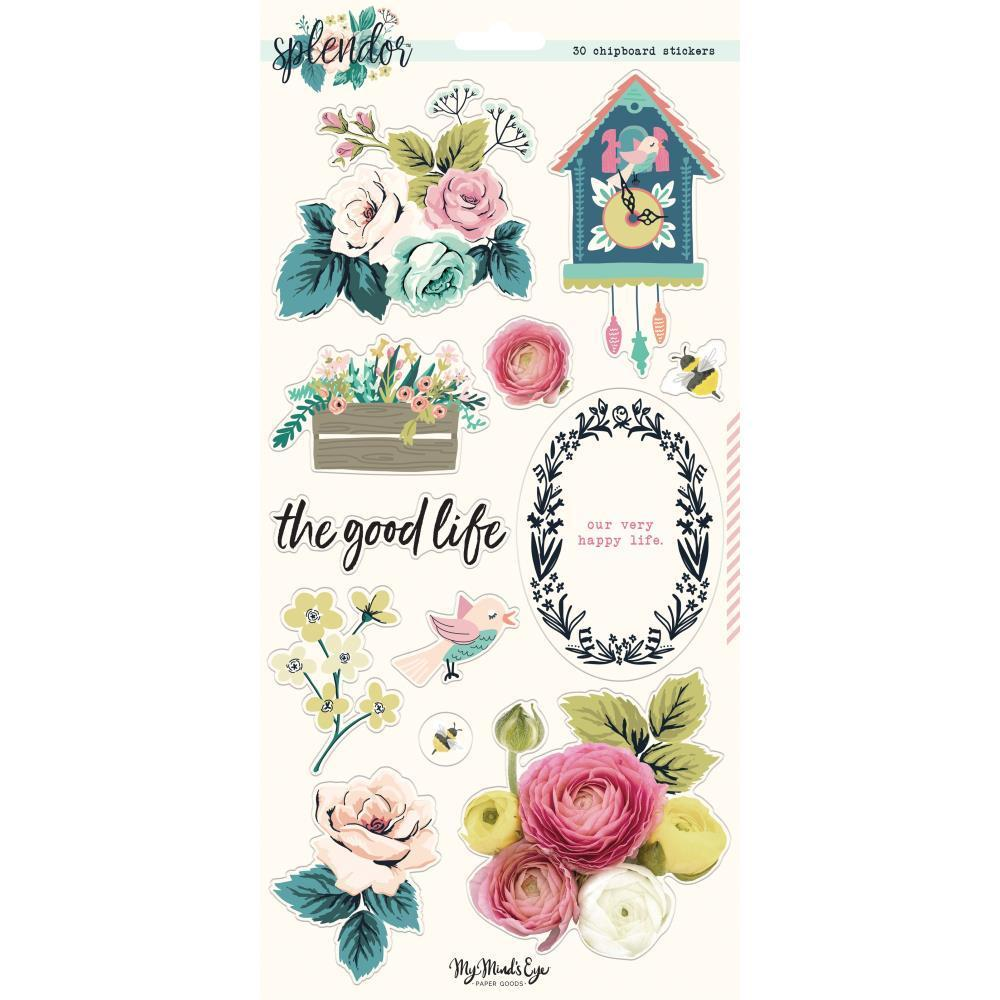 My Minds Eye - Splendor Chipboard Elements 6x12 inch 2 pack