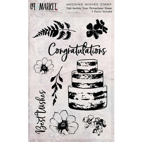 49 And Market - Sweet Reflections Stamp Set - Wedding Wishes
