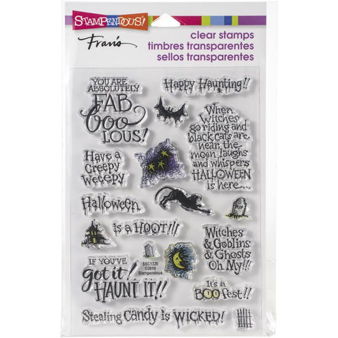 Stampendous Cling Stamp - Faboolous - 17 stamps.