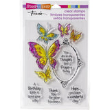Stampendous Perfectly Clear Stamps - Butterfly Frame