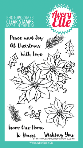 Avery Elle Clear Stamps - Holiday Bouquet