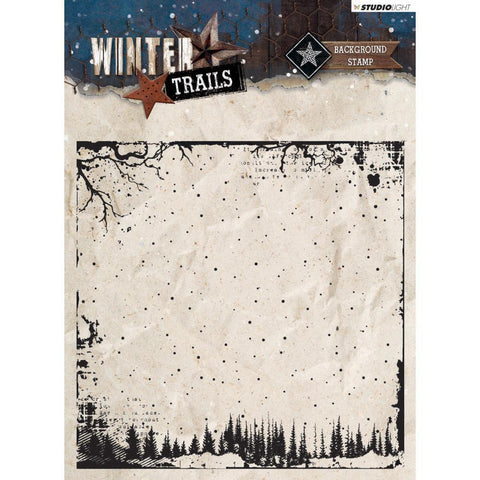 Studio Light Winter Trails Background Stamp - Stamp 304