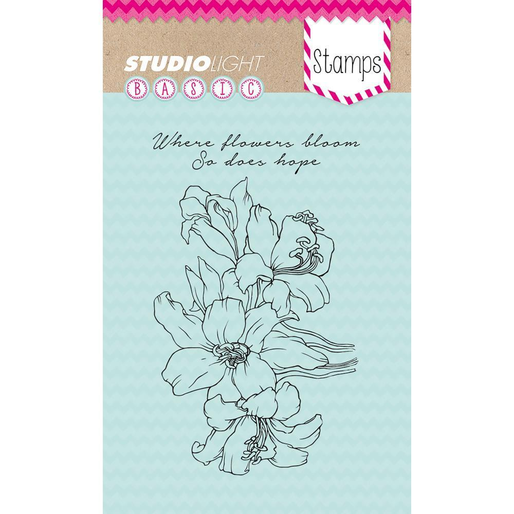 Studio Light Basic A6 Stamps - Where Flowers Bloom So Does Hope