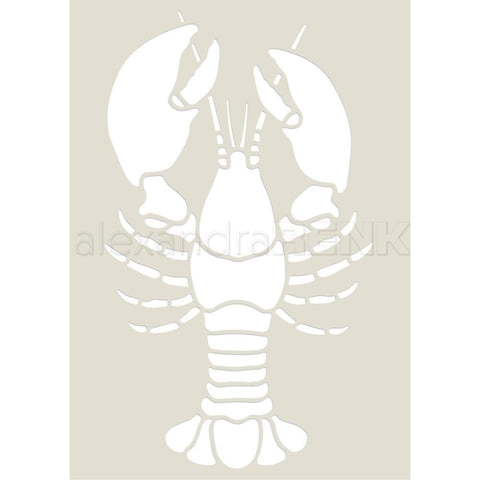 Alexandra Renke Stencil 5.8 inch X4.1 inch Cooking; Lobster