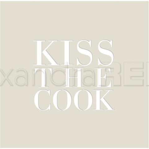Alexandra Renke Stencil 3.8x3.8 inch - Kiss The Cook
