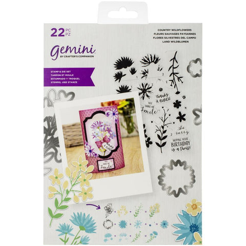 Crafters Companion Gemini Layering Stamps & Dies - Floral