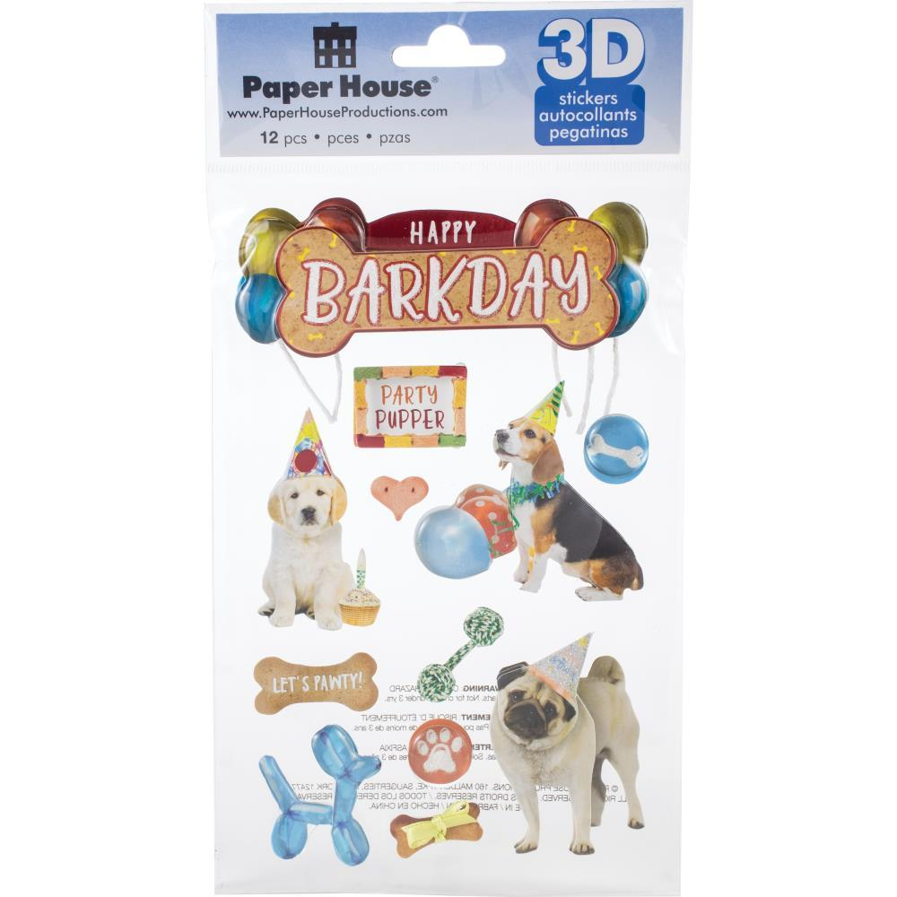 Paper House 3D Stickers - Happy Bark Day