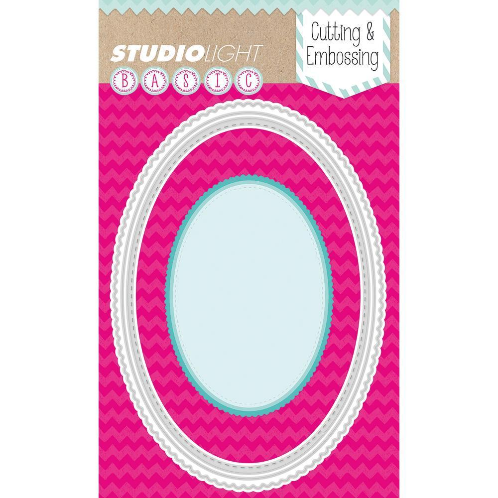 Studio Light Basic Cutting And Embossing Die Scallop Oval