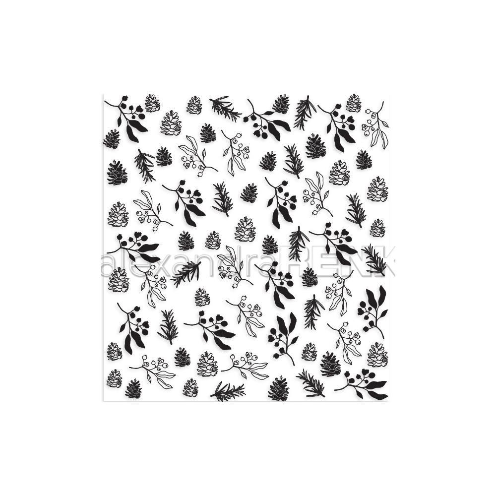 Alexandra Renke Abstract Clear Stamps - Winter Plants Pattern
