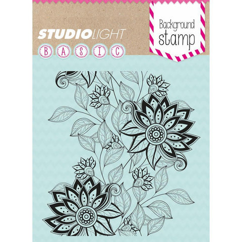 Studio Light Basic 5 inch X5 inch Background Stamp Floral