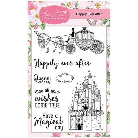 Apple Blossom A6 Stamp Set - Happily Ever After - Set of 7 Stamps