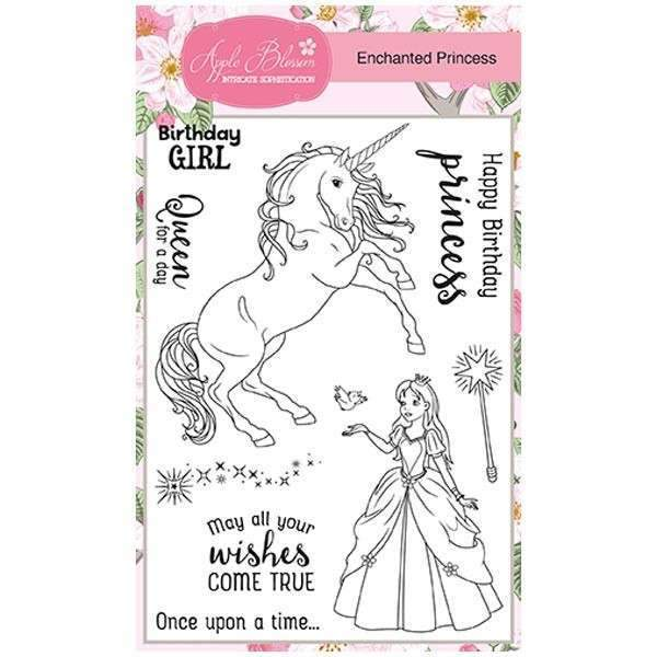 Apple Blossom A6 Stamp Set - Enchanted Princess - Set of 9 Stamps