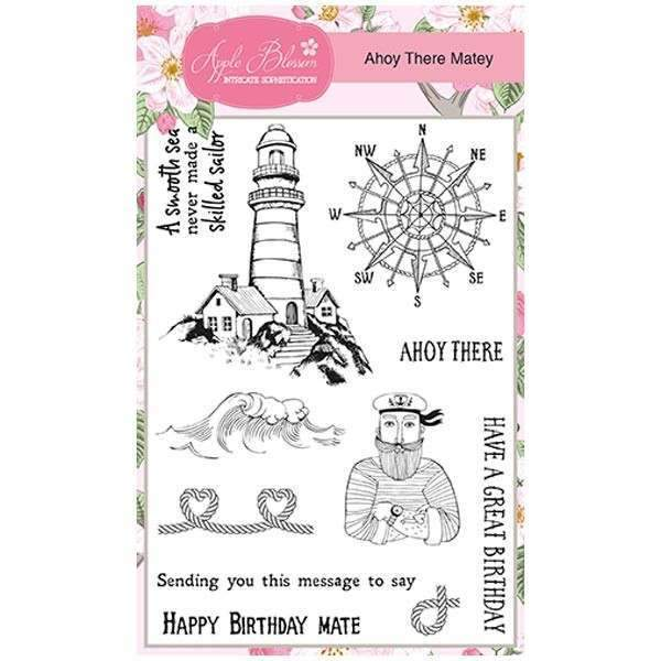 Apple Blossom A6 Stamp Set - Ahoy there Matey - Set of 11 Stamps