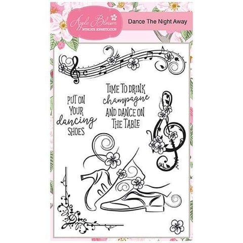 Apple Blossom A6 Stamp Set - Dance the Night Away - Set of 7 Stamps
