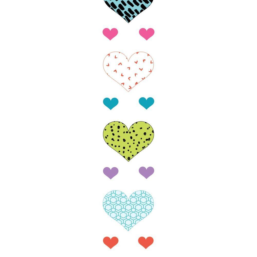 Paper House Stickers To Go 4ft Roll - Hearts