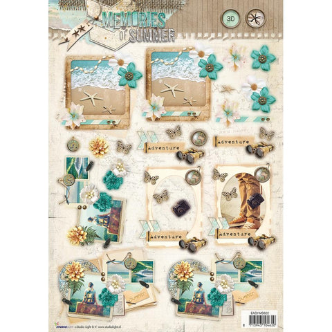 Studio Light Memories Of Summer Easy 3D Punched Sheet A4 - Sea Adventure