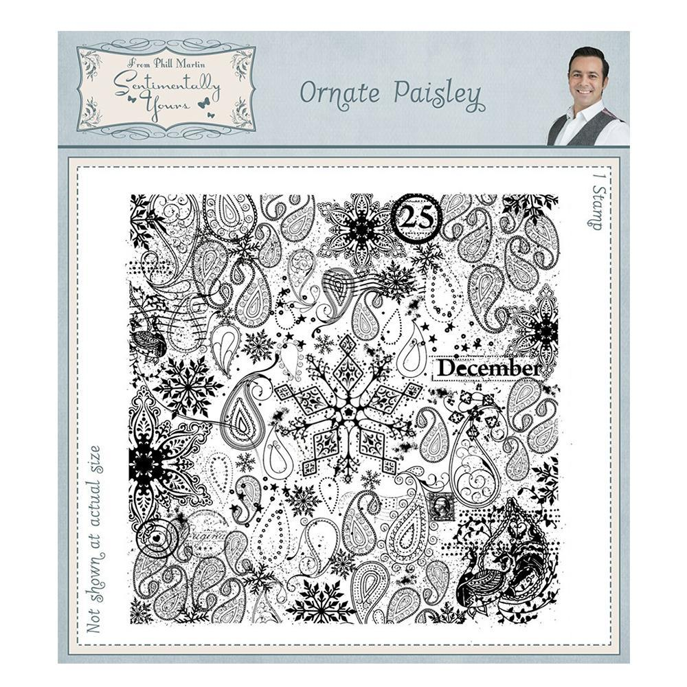Creative Expressions - Ornate Paisley Pre Cut Rubber Stamp