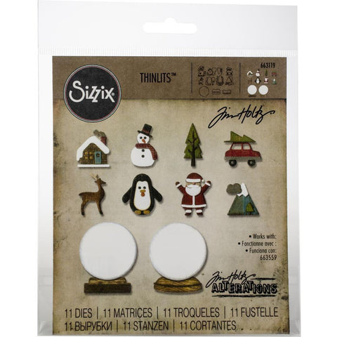 Sizzix Thinlits Dies By Tim Holtz 11/Pkg - Tiny Snowglobes