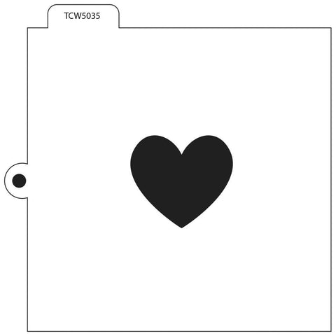 Crafters Workshop Cookie & Cake Stencils 5.5 inch X5.5 inch - Heart