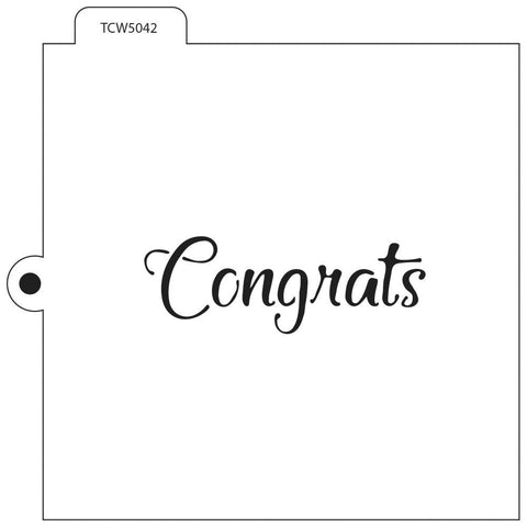 Crafters Workshop Cookie & Cake Stencils 5.5 inch X5.5 inch - Congrats