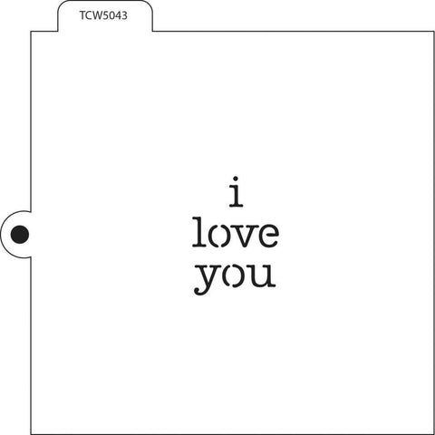 Crafters Workshop Cookie & Cake Stencils 5.5 inch X5.5 inch - I Love You