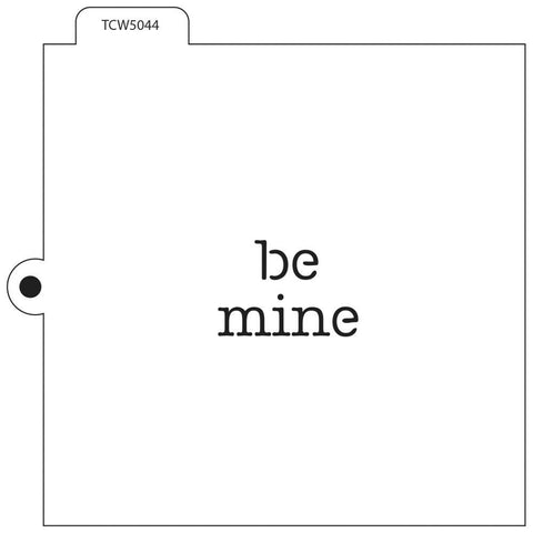 Crafters Workshop Cookie & Cake Stencils 5.5 inch X5.5 inch - Be Mine