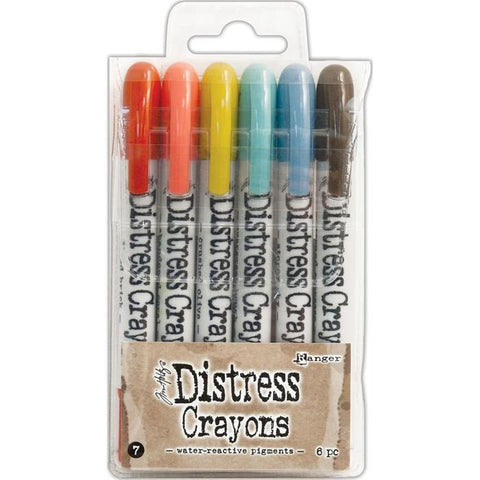 Tim Holtz Ranger Distress Crayon Set 7