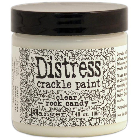 Ranger - Tim Holtz Distress Crackle Paint - Clear Rock Candy 4 Fl Oz (118Ml)