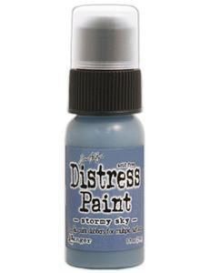 Tim Holtz Distress Paint 1Oz Bottle - Stormy Sky