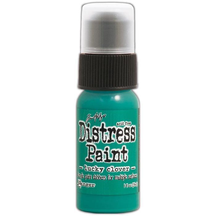 Distress Paint 1Oz Bottle November-Lucky Clover