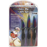 As Seen On TV Rainbow Knife 3-Piece Paring Set
