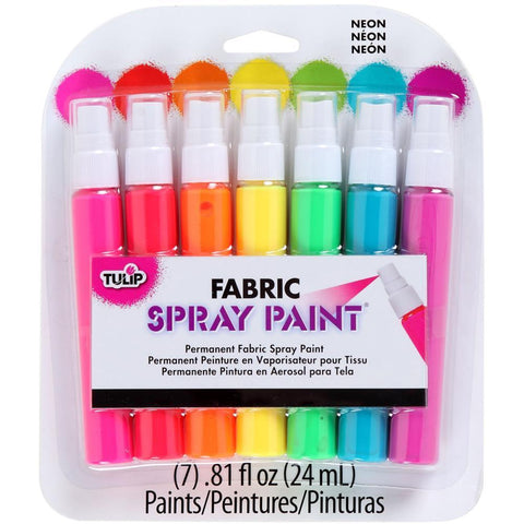Tulip Fabric Spray Paint Mini Pack .81oz 7 pack - Neon