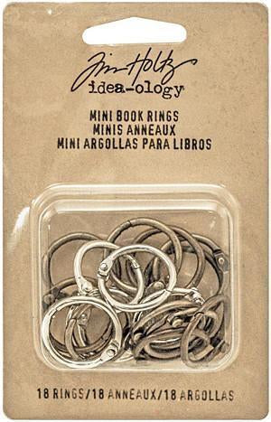 Idea-Ology Mini Book Rings 0.75 Inch - Silver, Antique Brass & Antique Copper 18 Pk