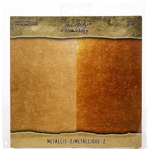 Idea-Ology Paper Stash Kraft Metallic Paper Pad 8x8inch 36 pack - Metallic 2