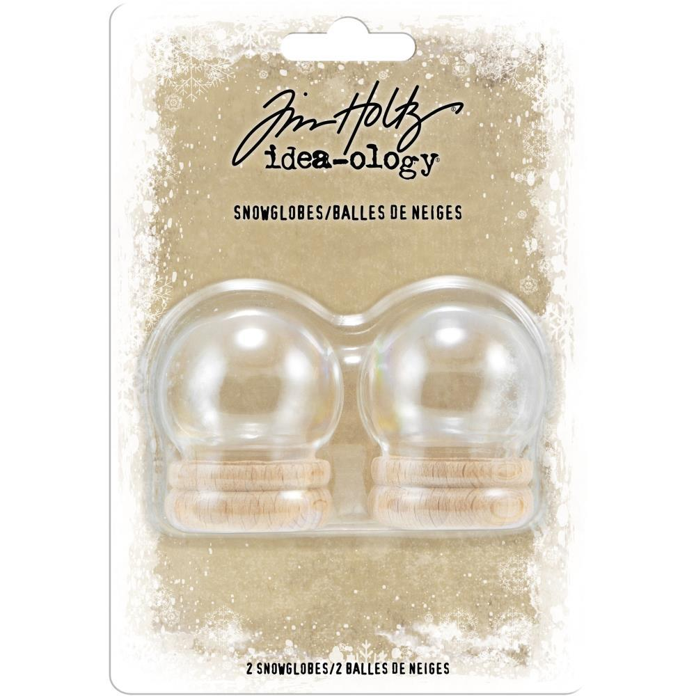 Tim Holtz Idea-Ology Snowglobes 1.5in 2 pack