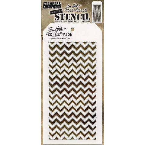 Tim Holtz - Layered Stencil 4.125 inchX8.5 inch - Shifter Chevron