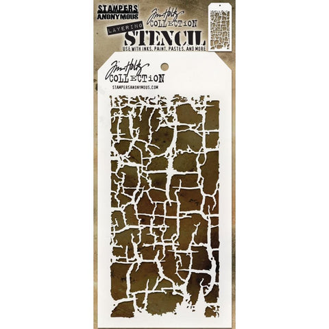 Tim Holtz - Layered Stencil 4.125 inchX8.5 inch - Decayed