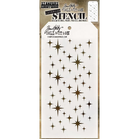 Tim Holtz Layered Stencil 4.125 inchX8.5 inch - Sparkle