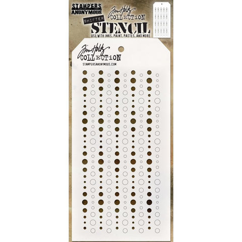 Tim Holtz Layered Stencil 4.125 inchX8.5 inch - Shifter Baubles