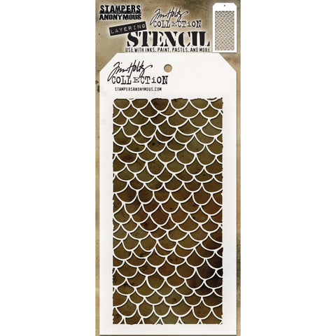 Tim Holtz Layered Stencil 4.125in x 8.5in - Scales Layered