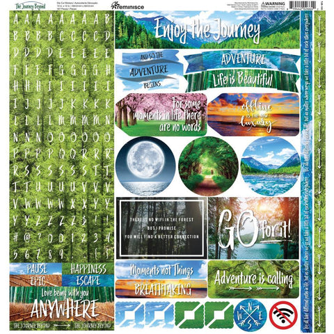 Reminisce Alpha Combo Cardstock Stickers 12x12 inch - The Journey Beyond
