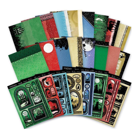 Hunkydory Twilight A Magical Christmas A4 Topper Collection - 8 Luxury A4 Topper Sets