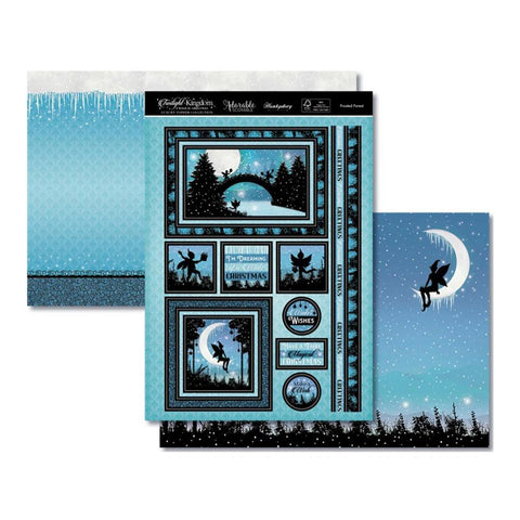Hunkydory Twilight A Magical Christmas Luxury A4 Topper Set - Frosted Forest