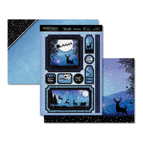 Hunkydory Twilight A Magical Christmas Luxury A4 Topper Set - Guide My Sleigh Tonight